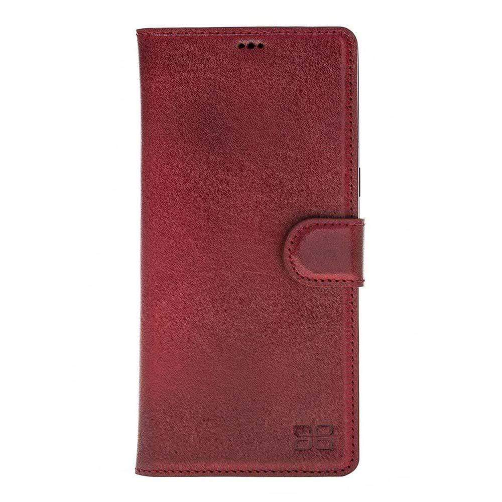 Phone Case Magnetic Detachable Leather Wallet Case for Samsung Note 8 - Vegetal Burnished Red Bouletta Case