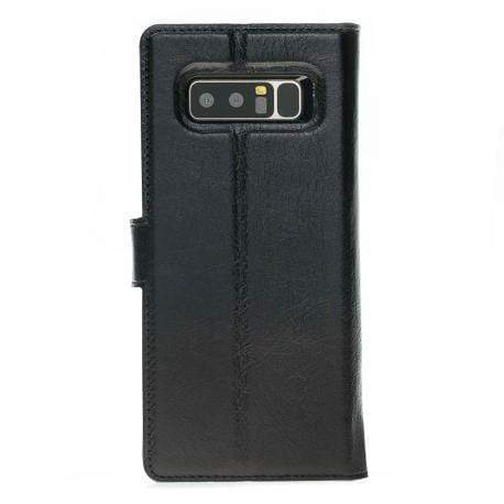 Phone Case Magnetic Detachable Leather Wallet Case for Samsung Note 9 - Floater Black Bouletta Case