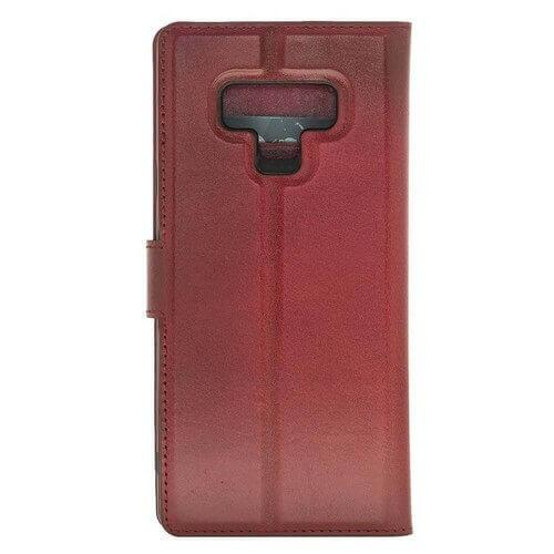 Phone Case Magnetic Detachable Leather Wallet Case for Samsung Note 9 - Vegetal Burnished Red Bouletta Case