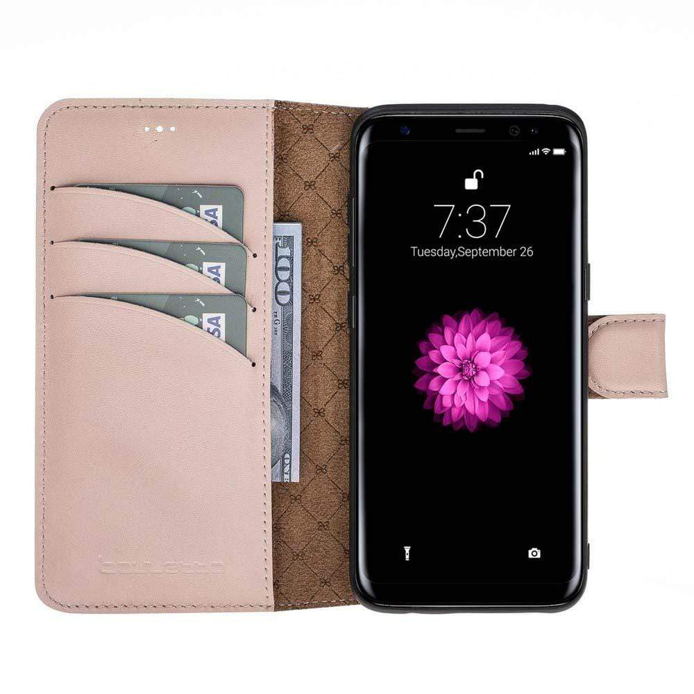 Phone Case Magnetic Detachable Leather Wallet Case for Samsung S8 - Nude Bouletta Case