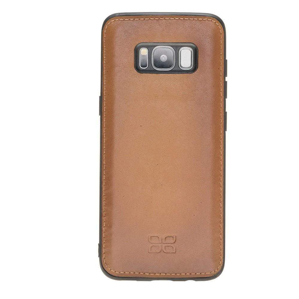 Phone Case Magnetic Detachable Leather Wallet Case for Samsung S8 - VAD Tan with Effect Bouletta Case