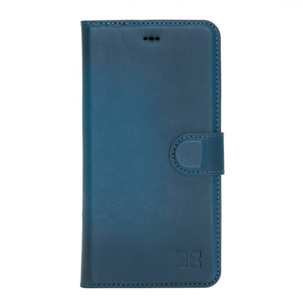 Phone Case Magnetic Detachable Leather Wallet Case with RFID Blocker for Apple iPhone XS Max - Burnished Navy Blue Bouletta Case