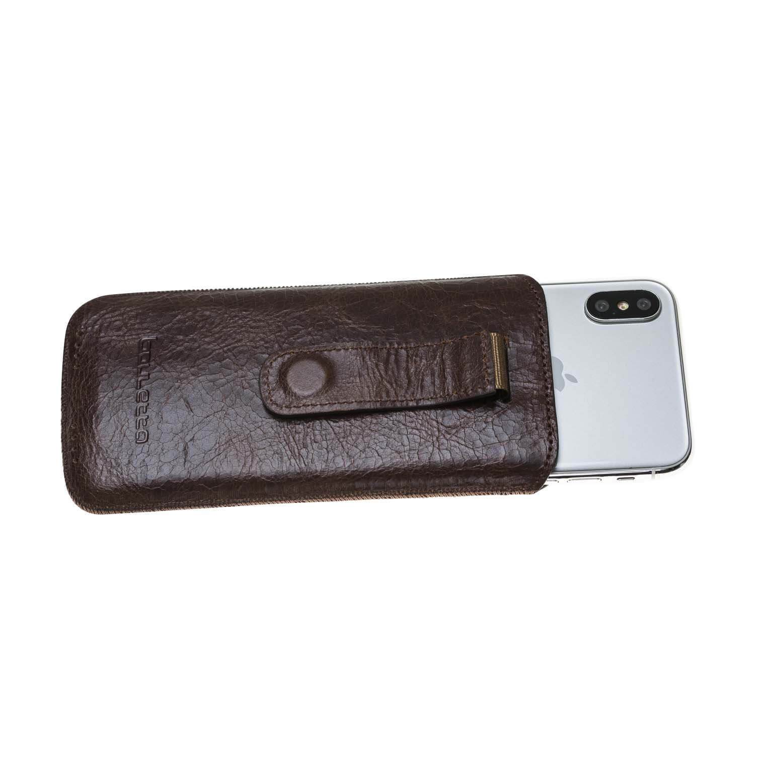 Phone Case Multi Leather Case for Apple iPhone X/XS - Vessel Brown Bouletta Case