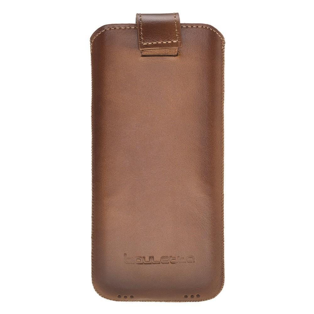Phone Case Multi Leather Case for Samsung Galaxy S10 Plus, S9 Plus and iPhone 6-7-8 Plus, XS MAX - Rustic Tan with Effect Bouletta Case