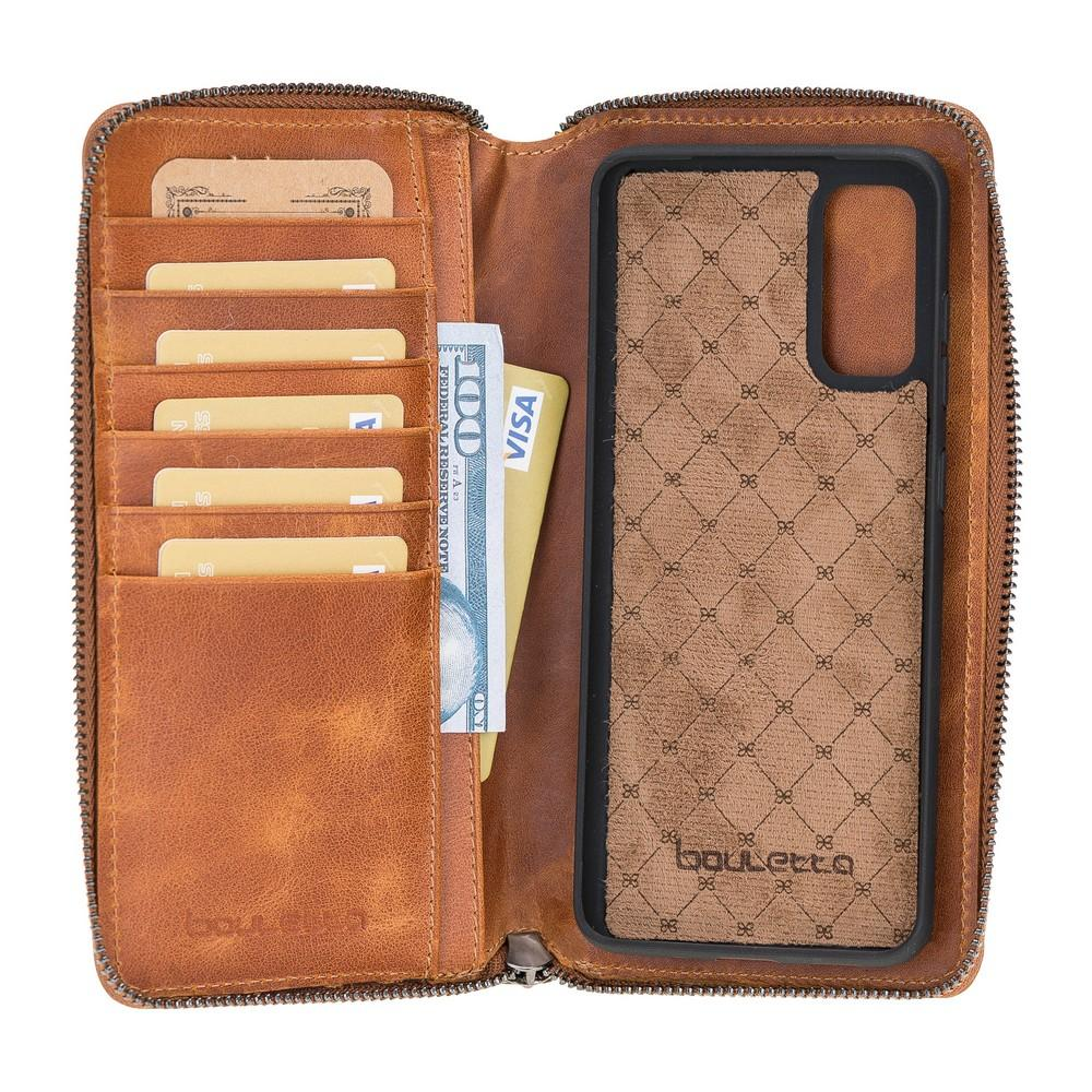 Pouch Magnetic Detachable Leather Wallet Case with RFID Blocker for Samsung Galaxy S20 TN11