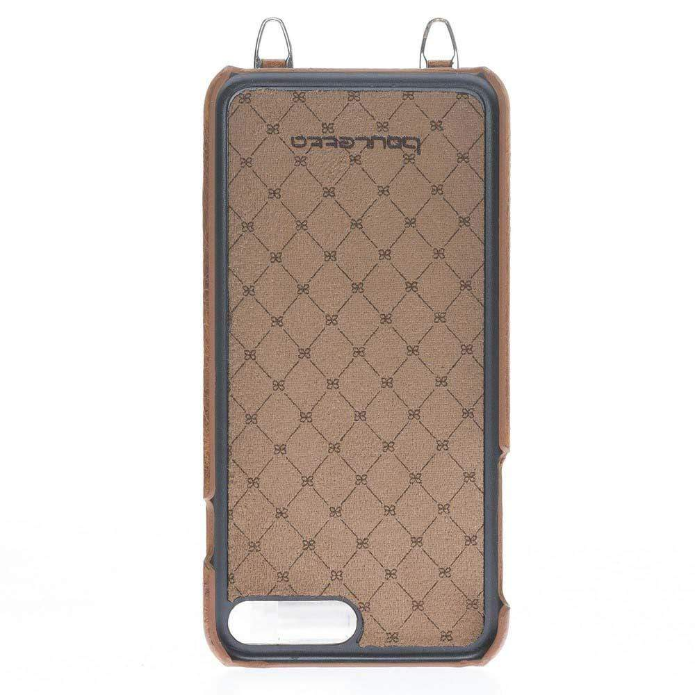 Phone Case Saff Ultimate Wallet Case with Shoulder Strap for Apple iPhone 7/8 Plus - Vegetal Tan with Vein Bouletta Case