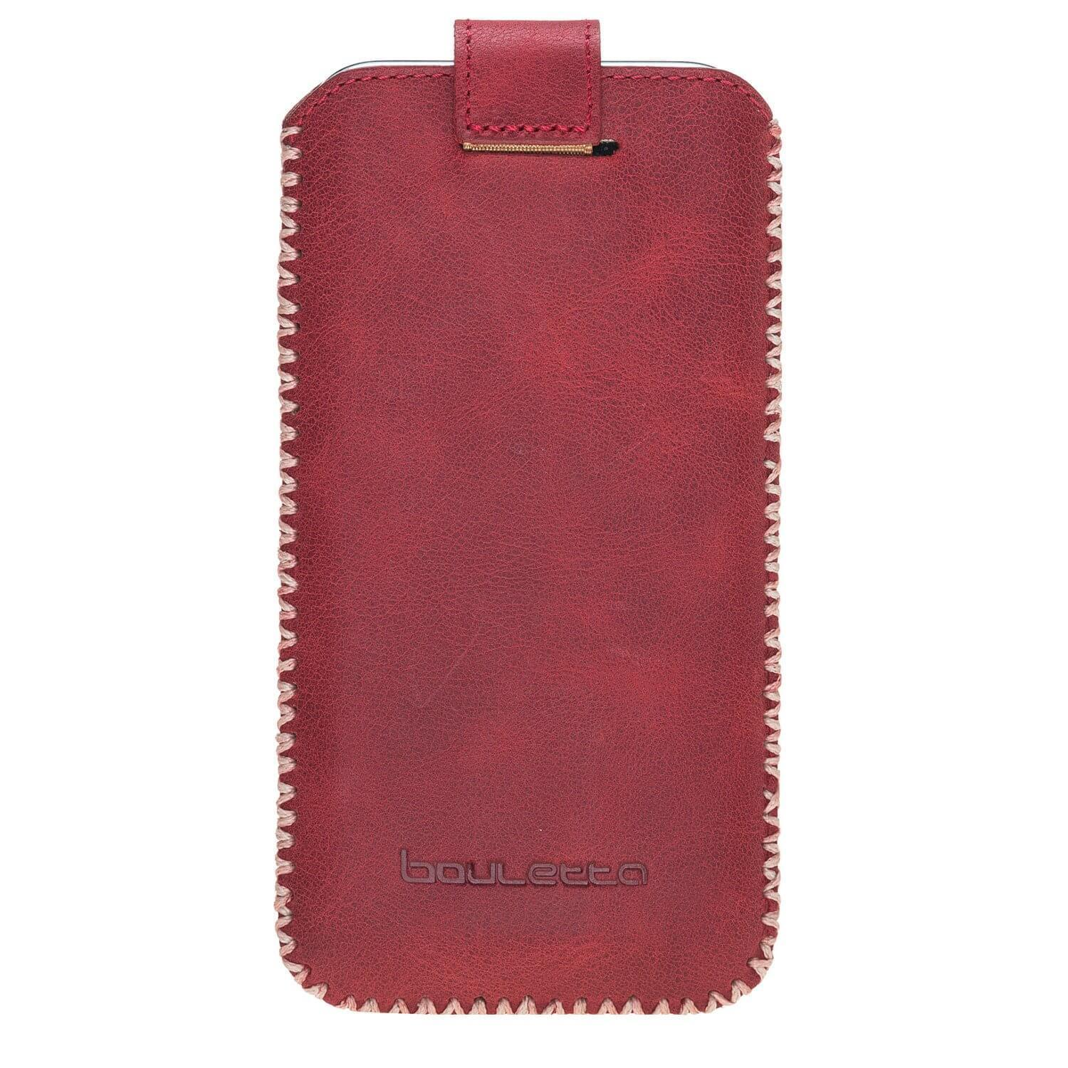 Phone Case Sarach Leather Case for Apple iPhone X/XS - Tiguan Red Bouletta Case
