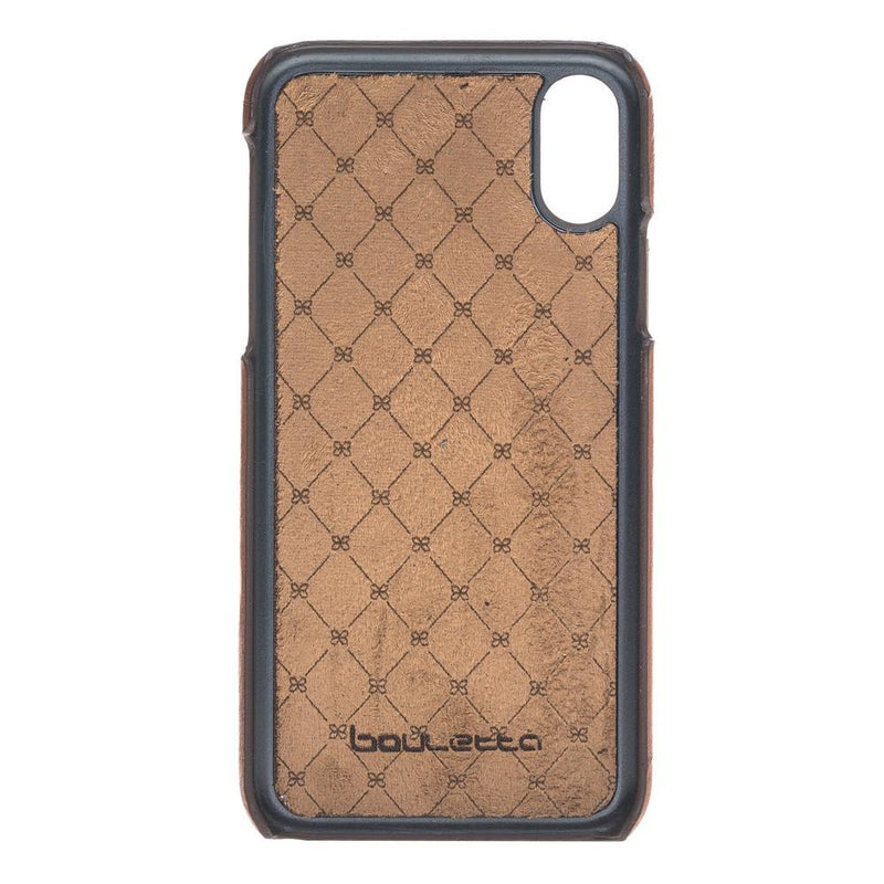 Phone Case Ultimate Book Leather Phone Cases for Apple iPhone X/XS - Rustic Tan Bouletta Case