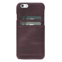 Phone Case Ultimate Jacket Leather Phone Cases with Card Holder for Apple iPhone 6/6S - Crazy Purple Bouletta Case