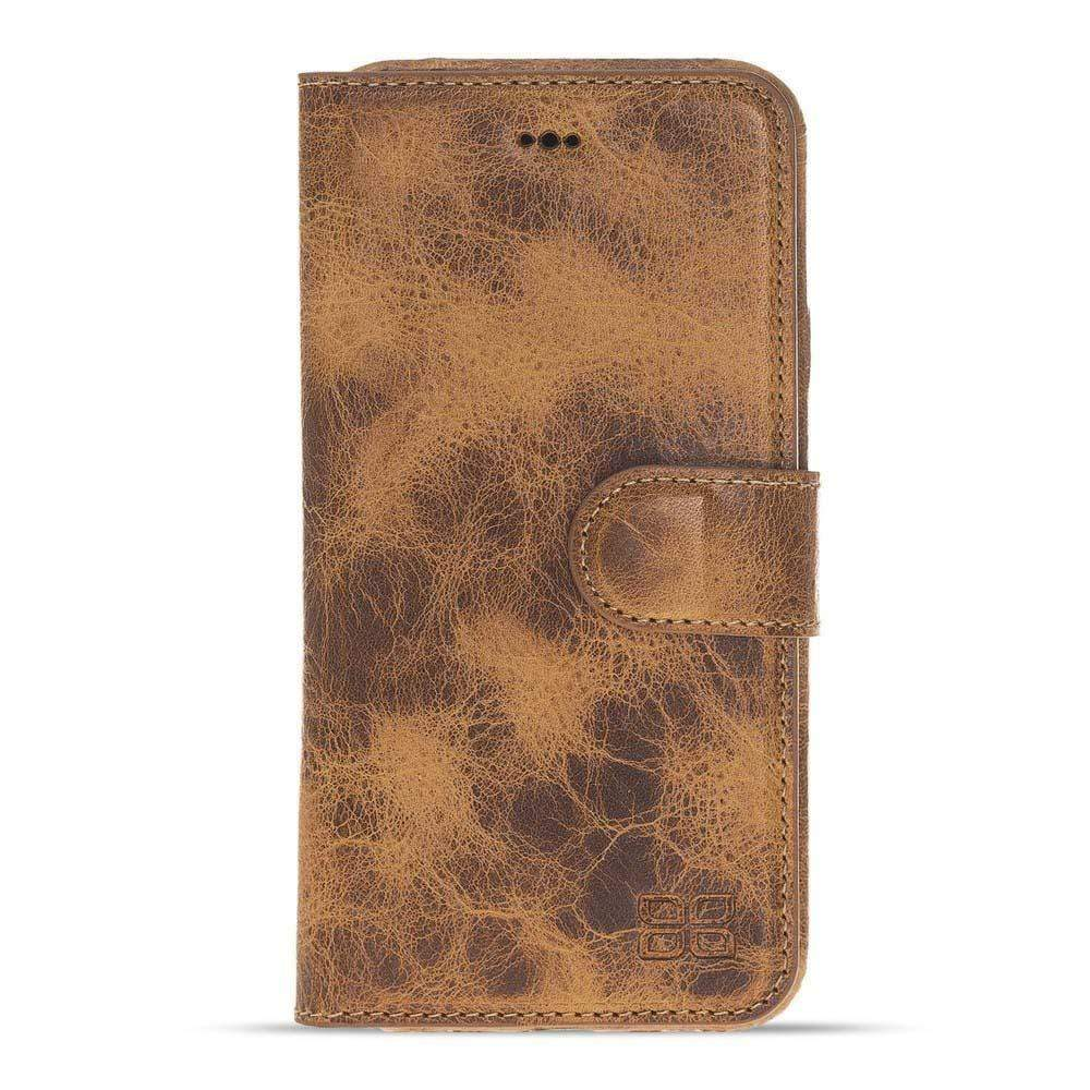 Phone Case Ultra Magnetic Detachable Leather Wallet Case for Apple iPhone X/XS - Vegetal Tan with Vein Bouletta Case