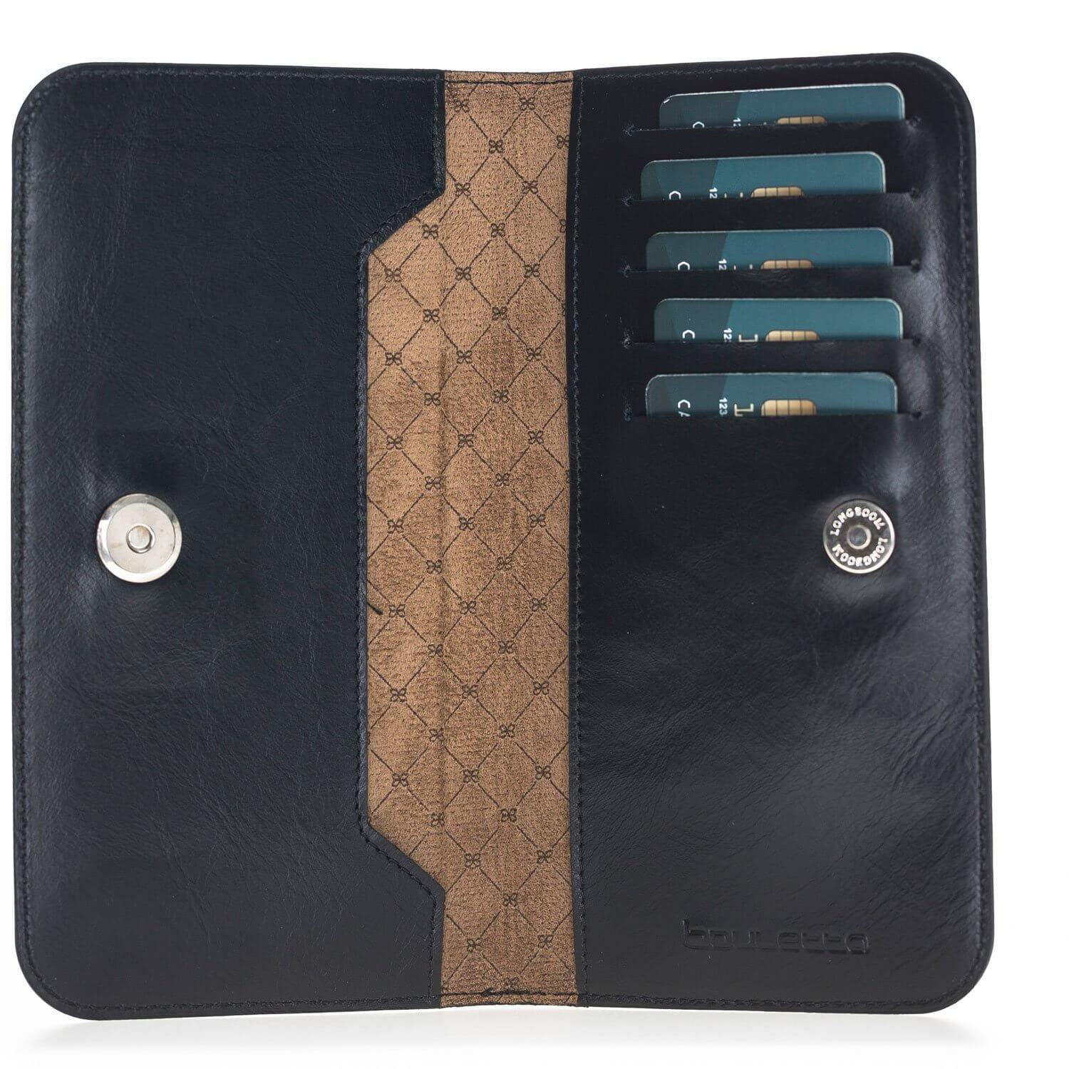 Phone Case Universal Lisbon Clutch Leather Phone Case for iPhone XS Max - Rustic Black Bouletta Case