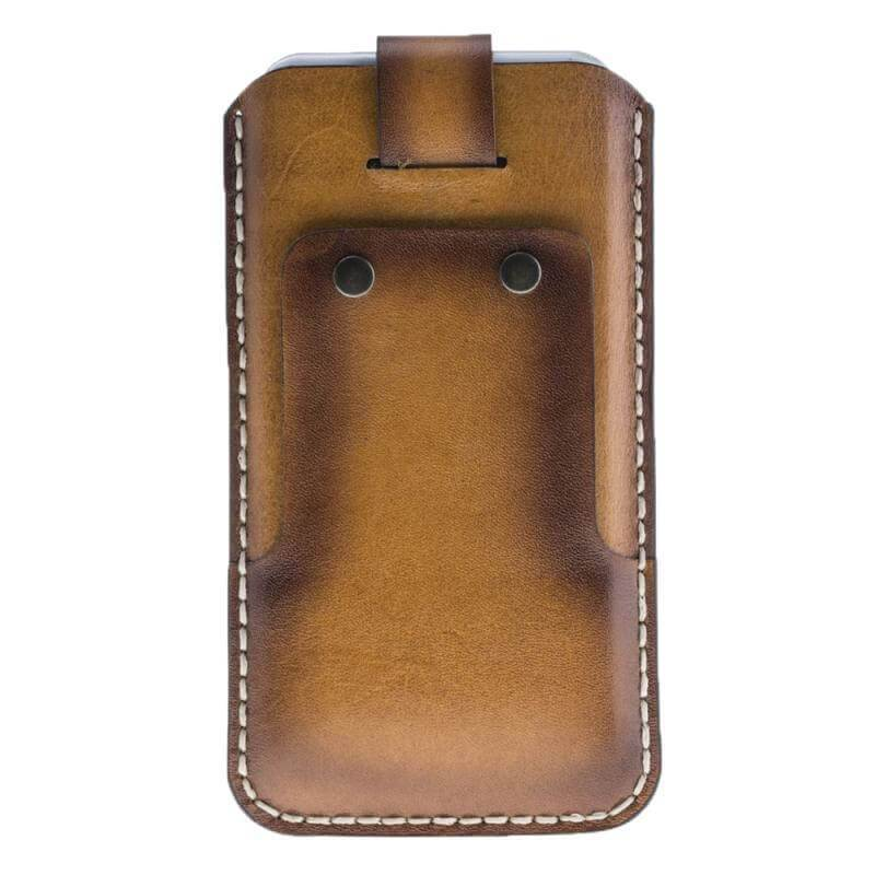 Phone Case Vintage Leather Pouch Phone Case with Card Holder for Apple iPhone 7/8 Plus - Vegetal Burnished Tan Bouletta Case