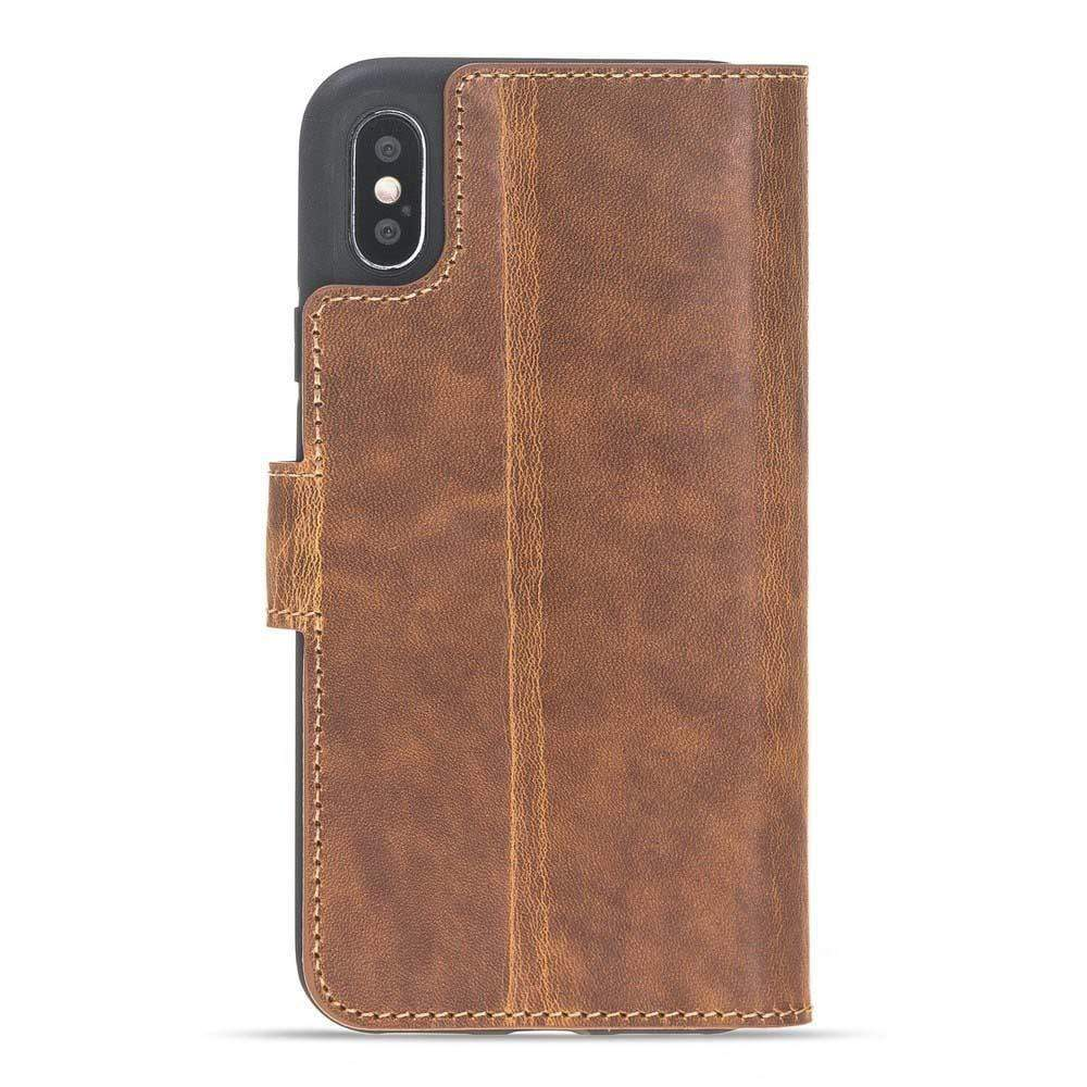 Phone Case Wallet Folio Leather Case with ID slot for Apple iPhone X/XS - Vegetal Tan Bouletta Case