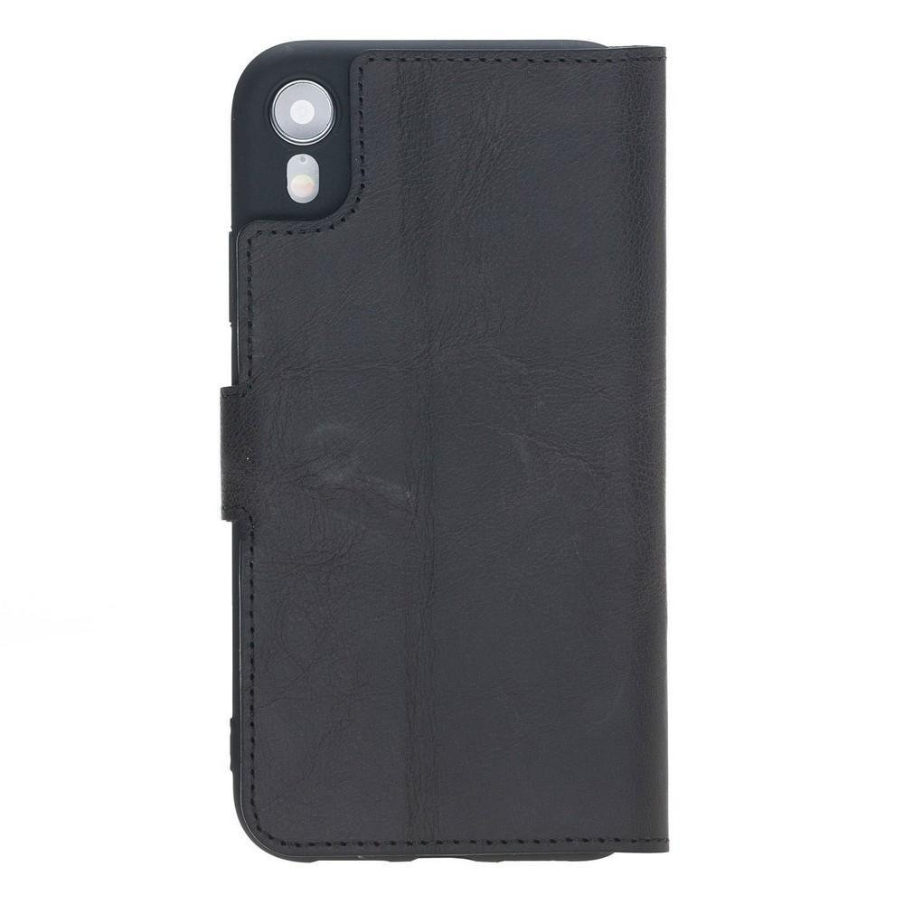 Phone Case Wallet Folio Leather Case with ID slot for Apple iPhone XR - Tiguan Black Bouletta Case