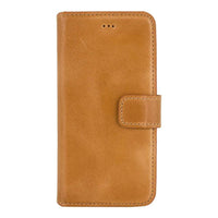 Phone Case Wallet Leather Case for Apple iPhone 6/6S - Crazy Orange Bouletta Case