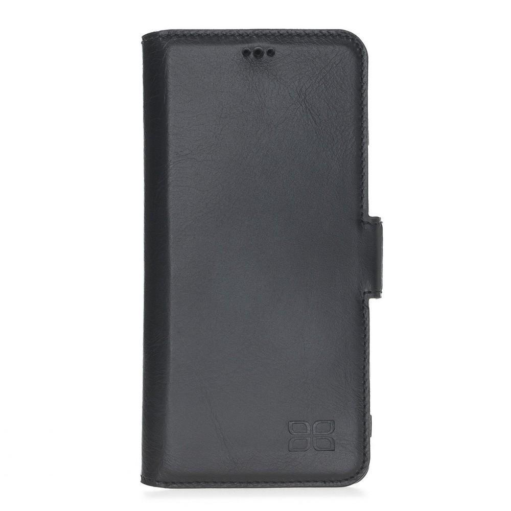 Phone Case Wallet Leather Case New Edition with ID slot for Samsung S10 - Rustic Black Bouletta Case