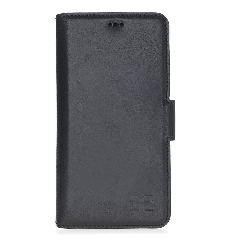 Phone Case Wallet Leather Case New Edition with ID slot for Samsung S10e Essential - Rustic Black Bouletta Case