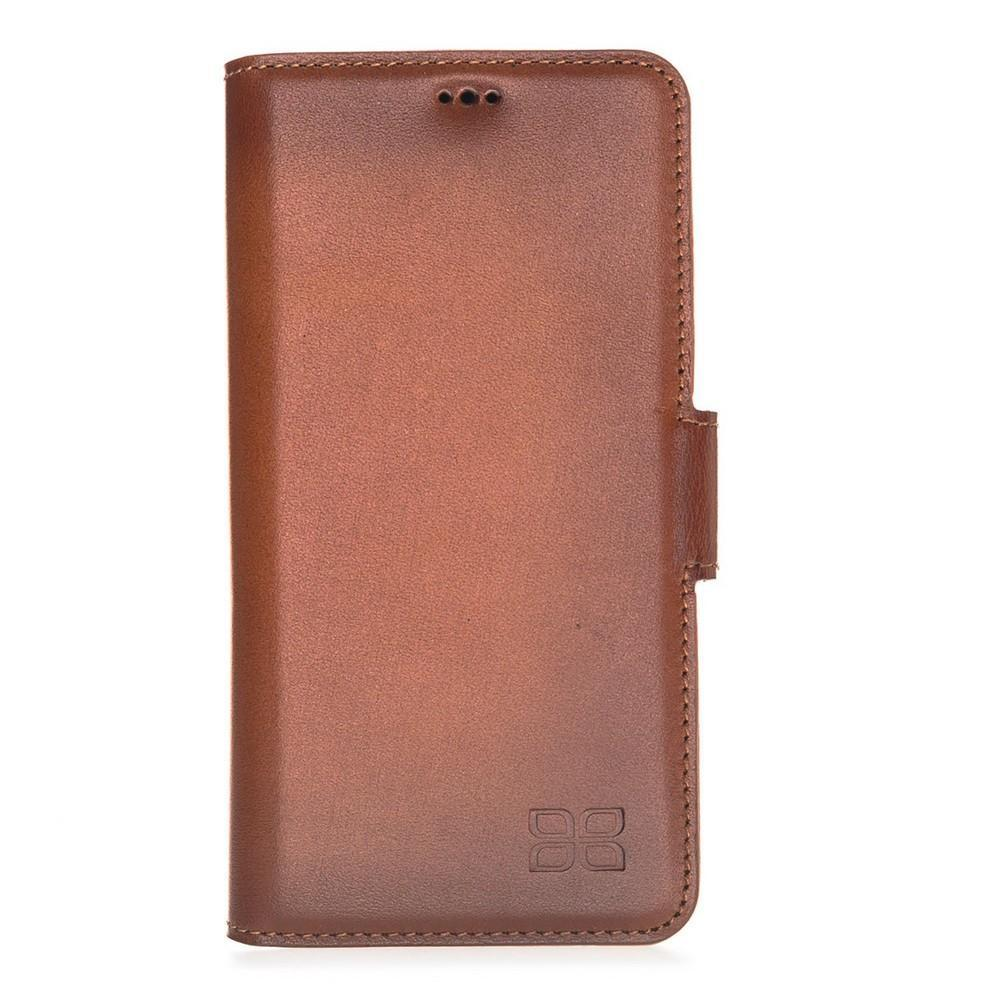 Phone Case Wallet Leather Case New Edition with ID slot for Samsung S10e Essential- Rustic Tan with Effect Bouletta Case