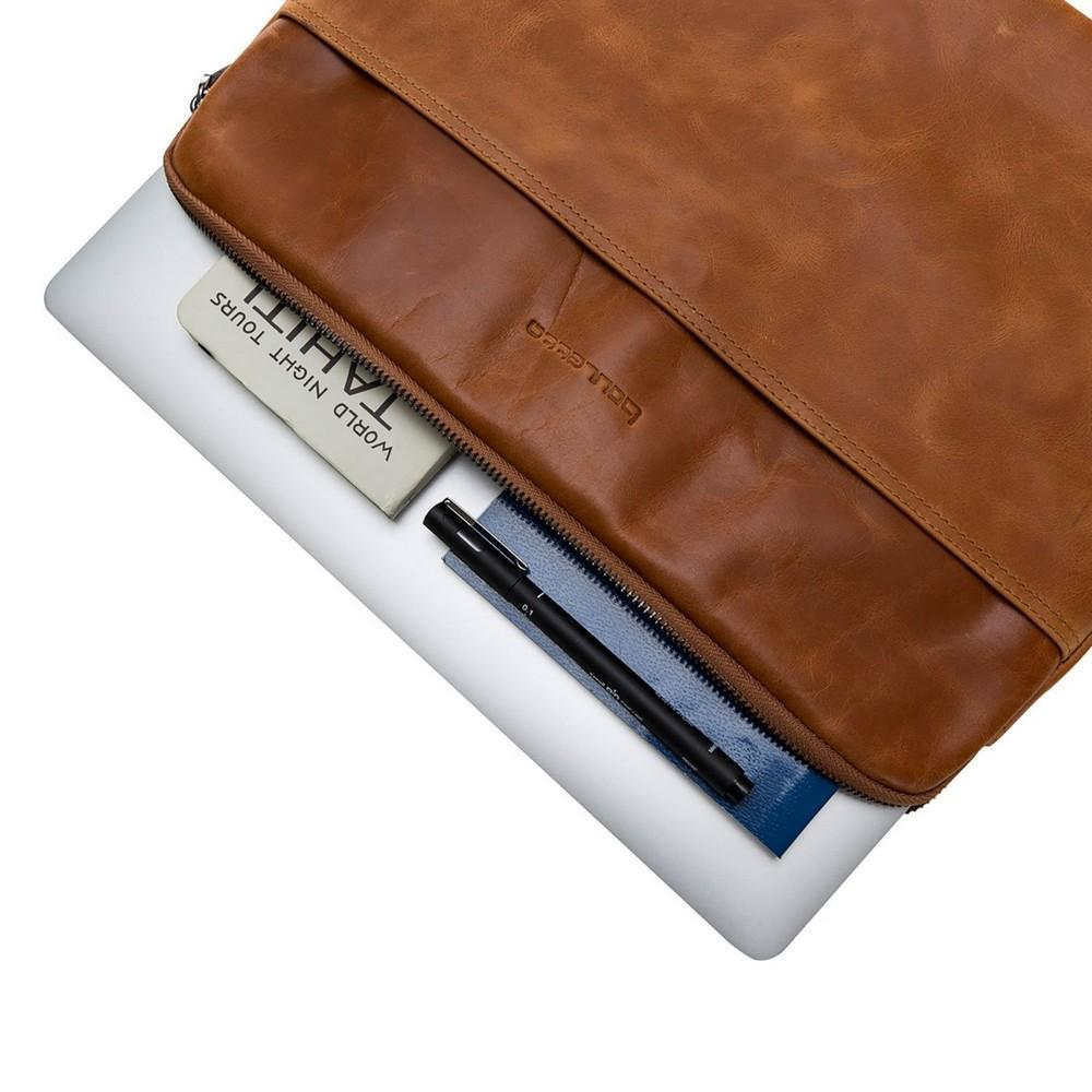Sleeve Awe Leather Tablet Case 15'' - Rustic Tan Bouletta Shop