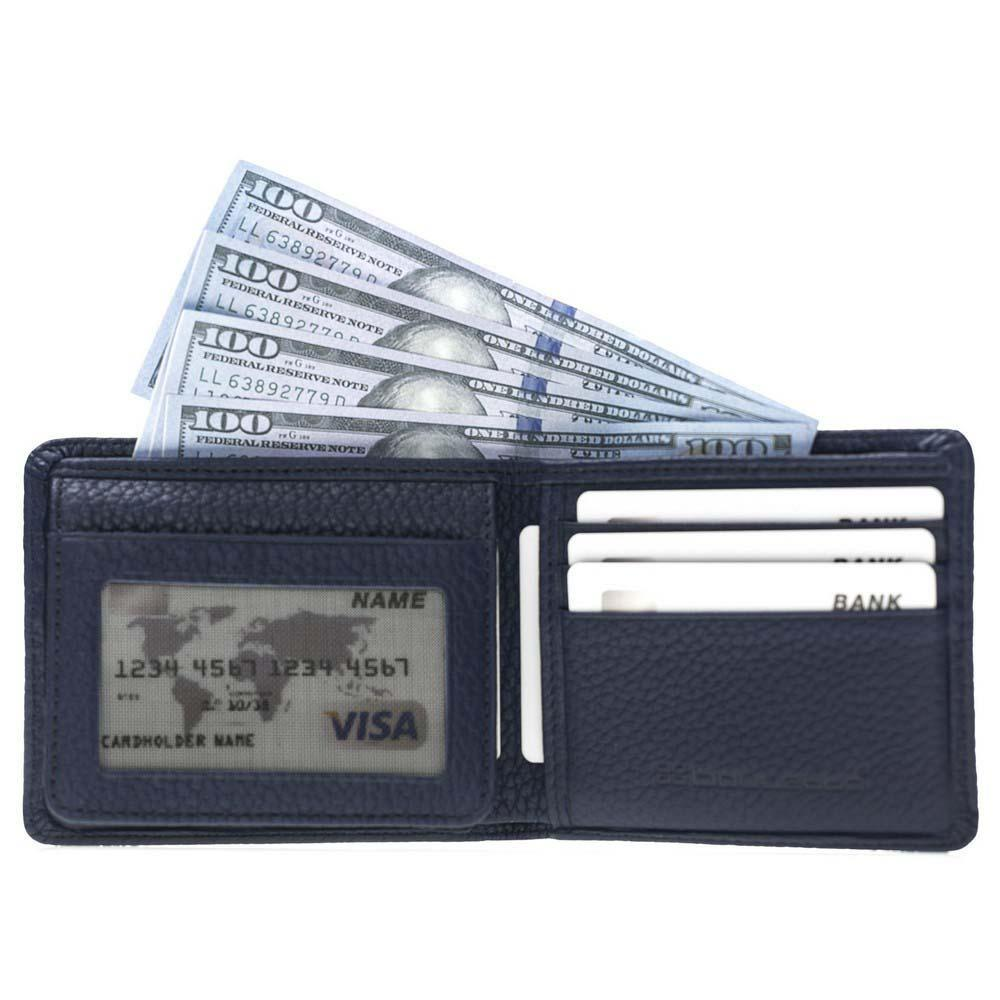 Wallet Carlos Leather Men's Wallet - Floater Light Blue Bouletta Shop