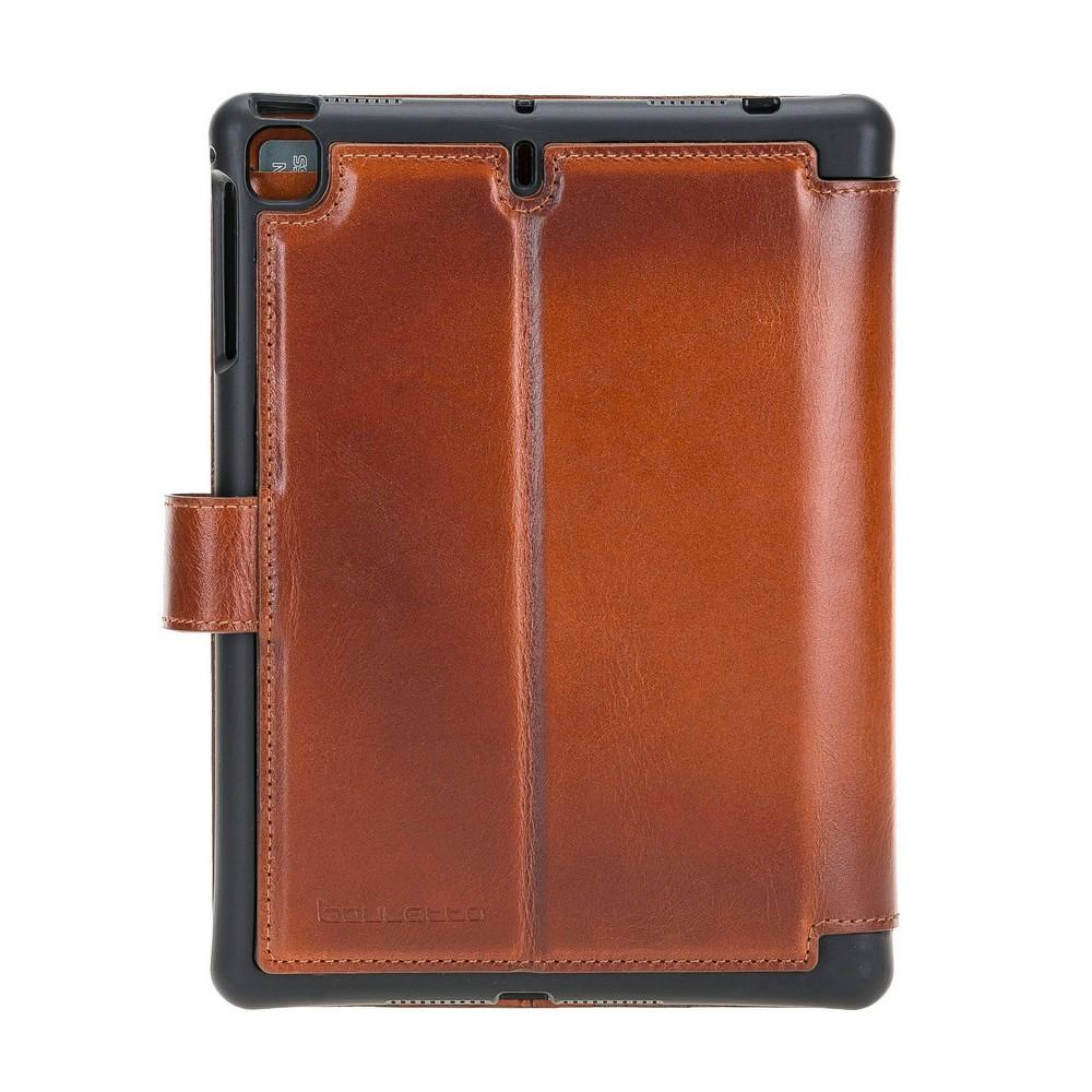 Wallet Case Eto Magnetic Detachable Leather Wallet Case for iPad Mini 5 - Rustic Tan with Effcet Bouletta Shop