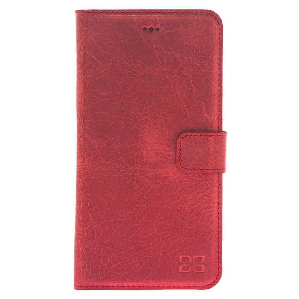 Wallet Case F360 Magnetic Detachable Leather Wallet Case for Apple iPhone 7/8 Plus - Rome Red Bouletta Shop