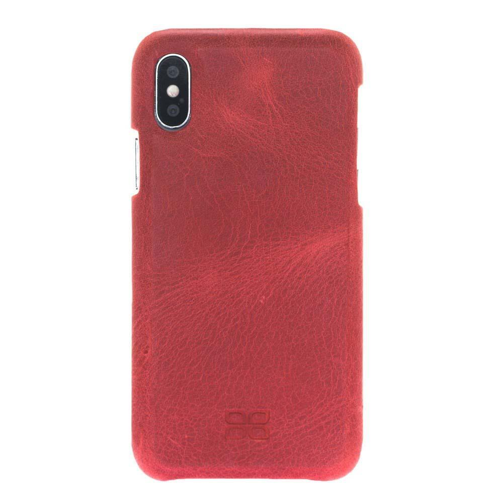 Wallet Case F360 Magnetic Detachable Leather Wallet Case for Apple iPhone X/XS - Rome Red Bouletta Shop