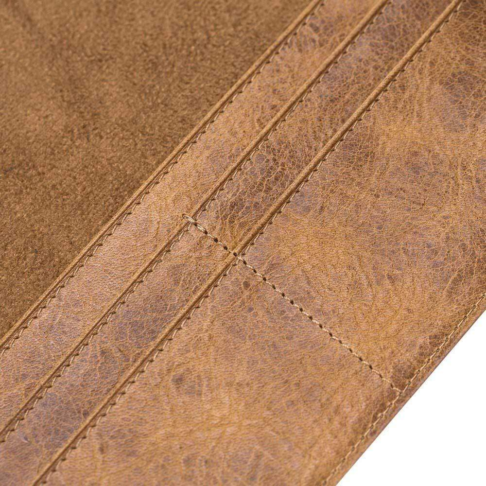Wallet Case Leather Wallet Case for New iPad 9.7 - Vegetal Tan with Vein Bouletta Shop