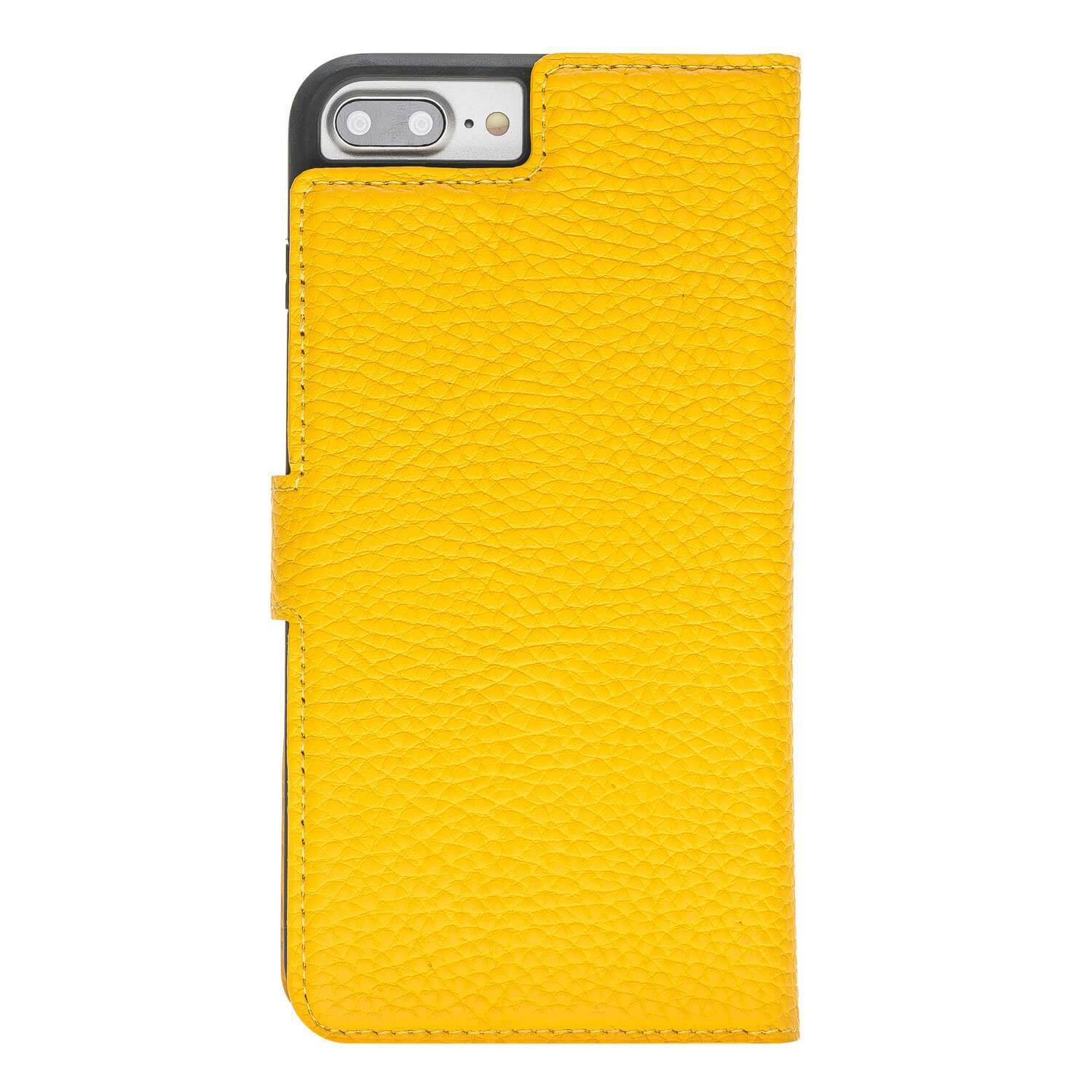 Wallet Case Magnetic Detachable Leather Wallet Case for Apple iPhone 7/8 Plus- Floater Yellow Bouletta Case