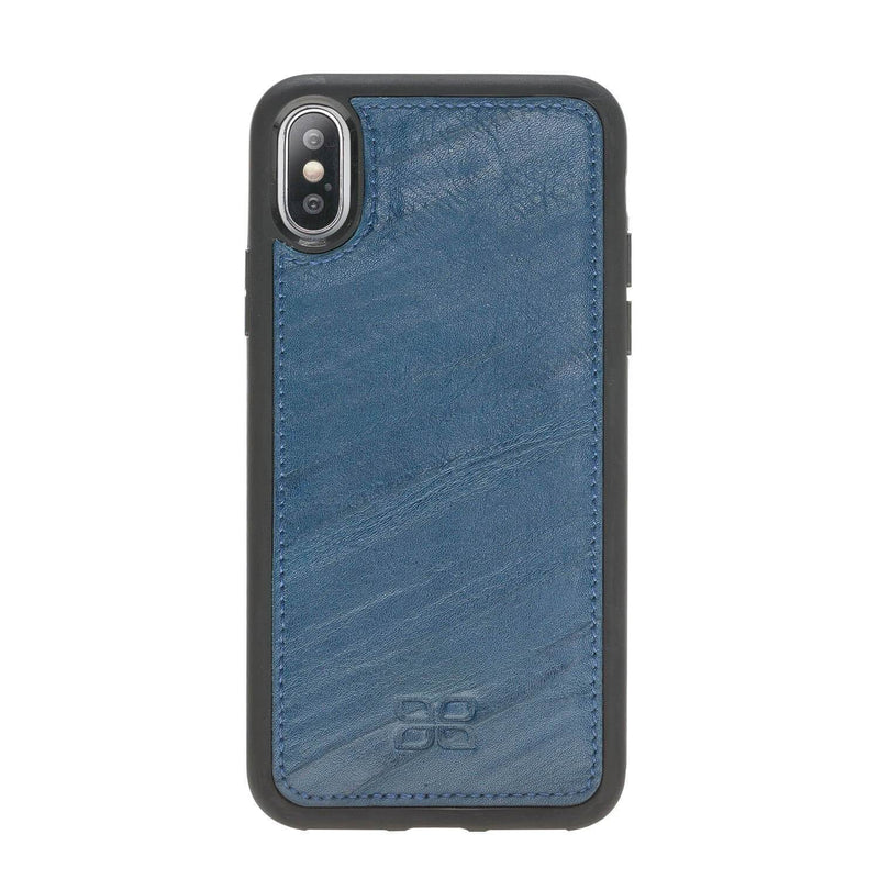 Wallet Case Magnetic Detachable Leather Wallet Case for Apple iPhone X/XS - Creased Blue Bouletta Case