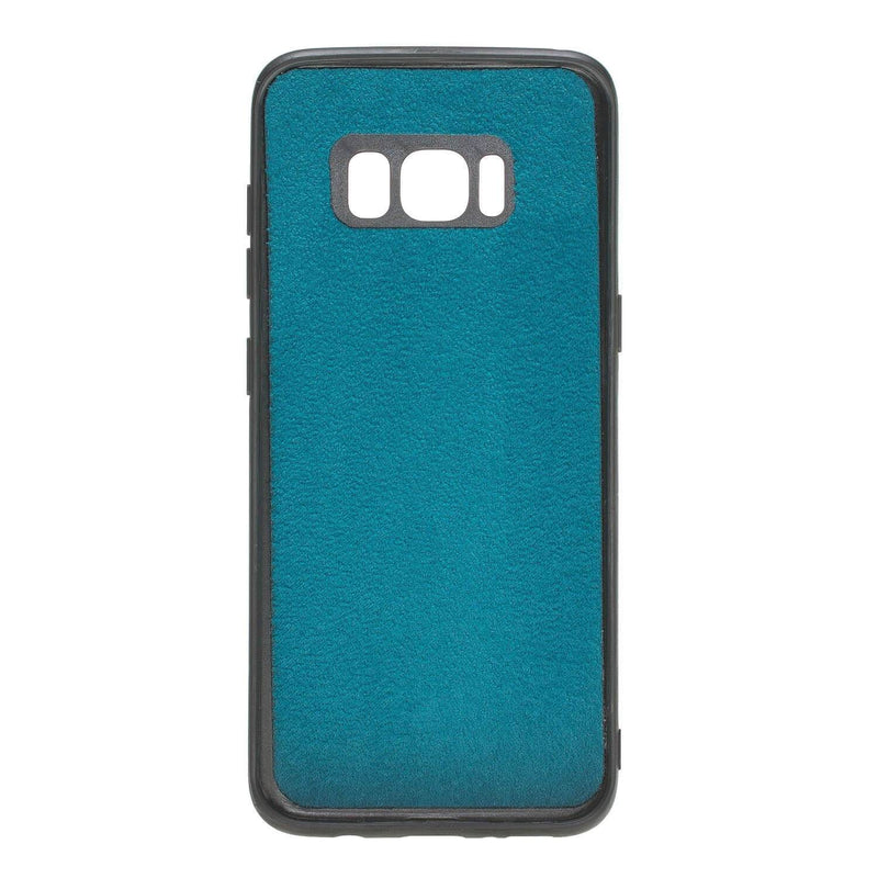 Wallet Case Magnetic Detachable Leather Wallet Case for Samsung S8 - Creased Turquoise Bouletta Case