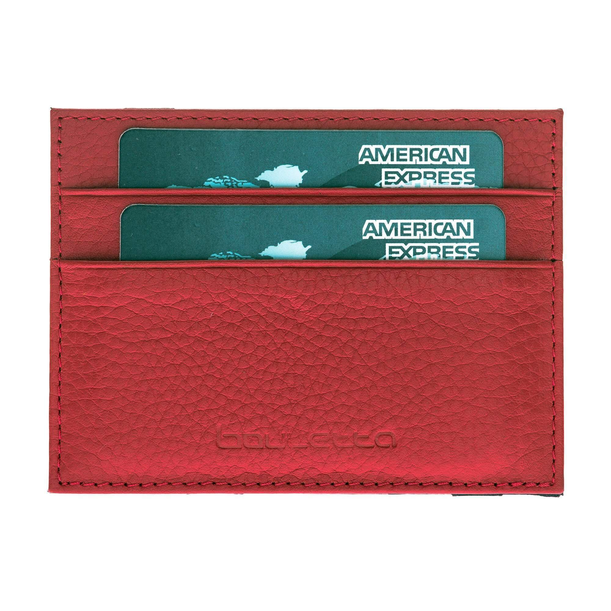 Wallet Cryptic Leather Card Holder Wallet - Floater Red Bouletta Shop