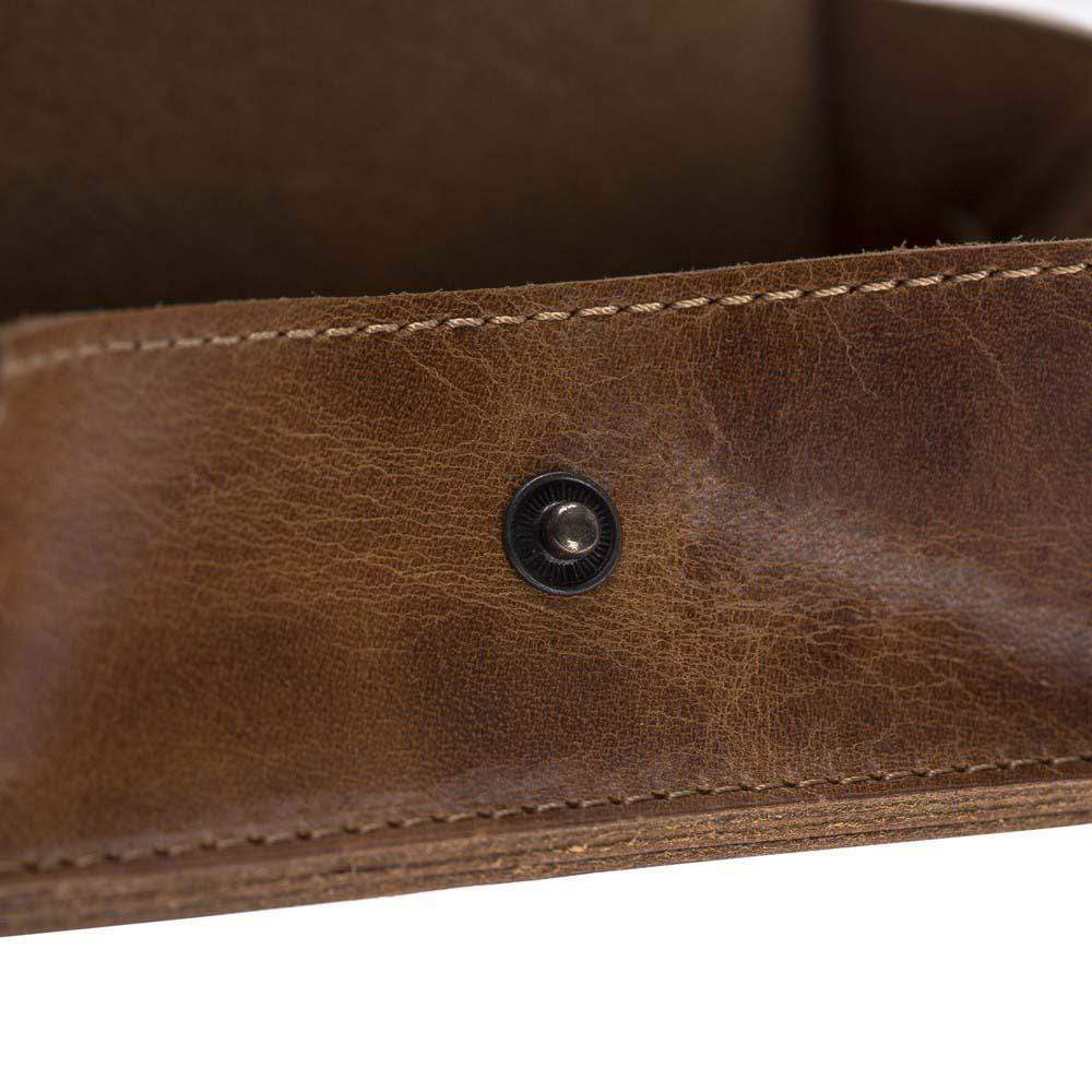 Wallet Functional Leather Credit Card Holder - Vegetal Tan Bouletta Shop