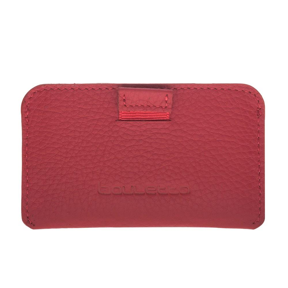 Wallet Minima Leather Card Holder With RFID Blocker - Floater Red Bouletta Case