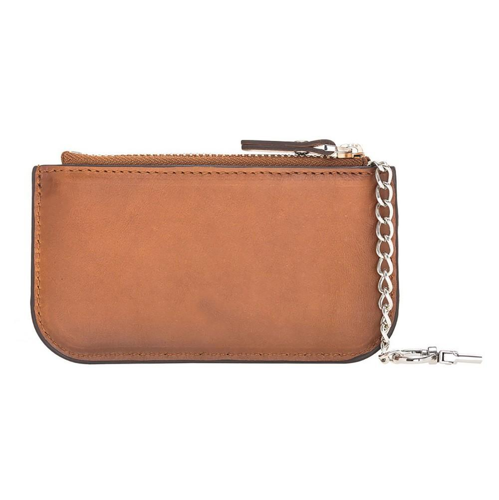 Wallet Multima Leather Card Holder - Rustic Tan with Effect Bouletta Case