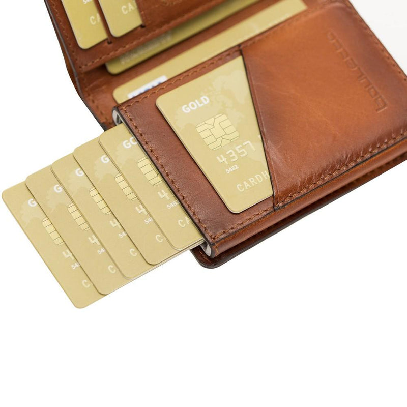 Wallet Palermo Mechanical Leather Card Holder Wallet with RFID Blocker - RST2EF Bouletta Case