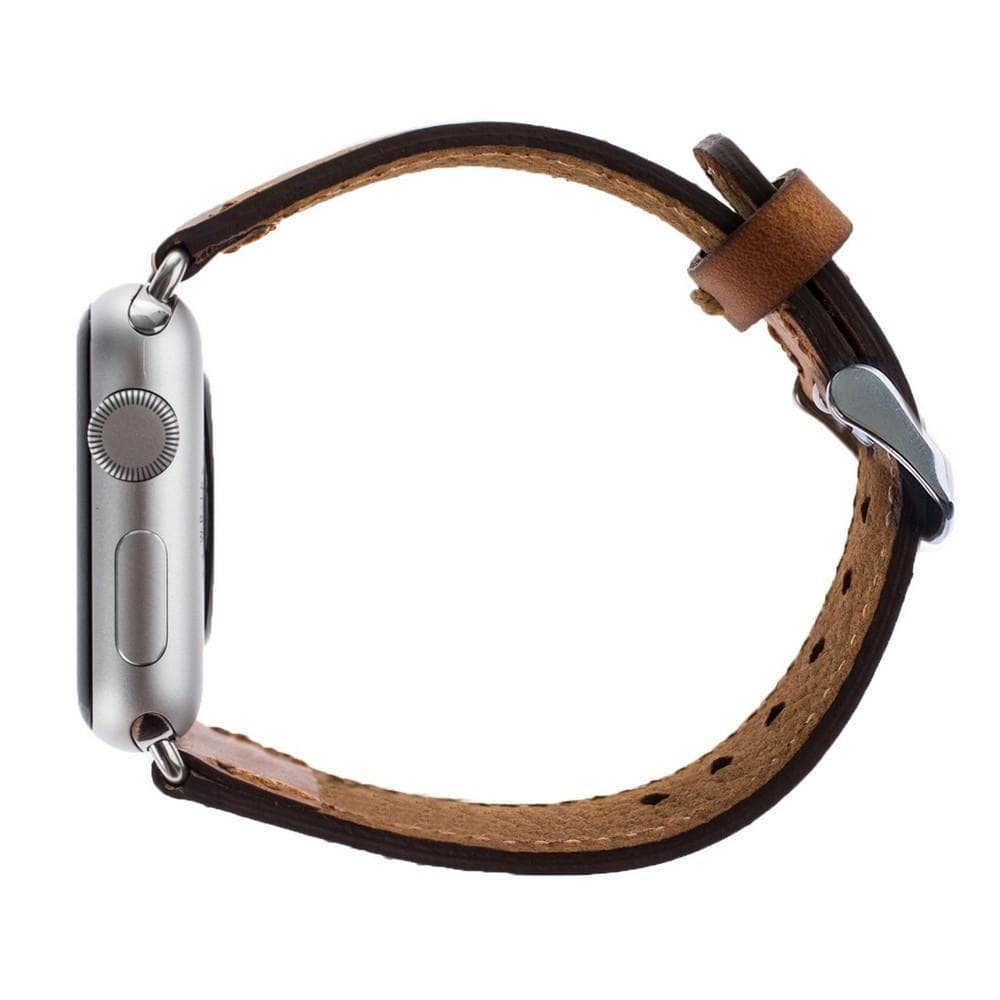 Watch Band Leather Watch Strap for Apple Watch 38mm / 40mm - Antic Brown Bouletta Shop