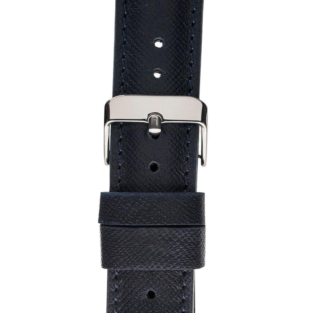 Watch Band Leather Watch Strap for Apple Watch 38mm / 40mm - Saffiano Navy Blue Bouletta Case
