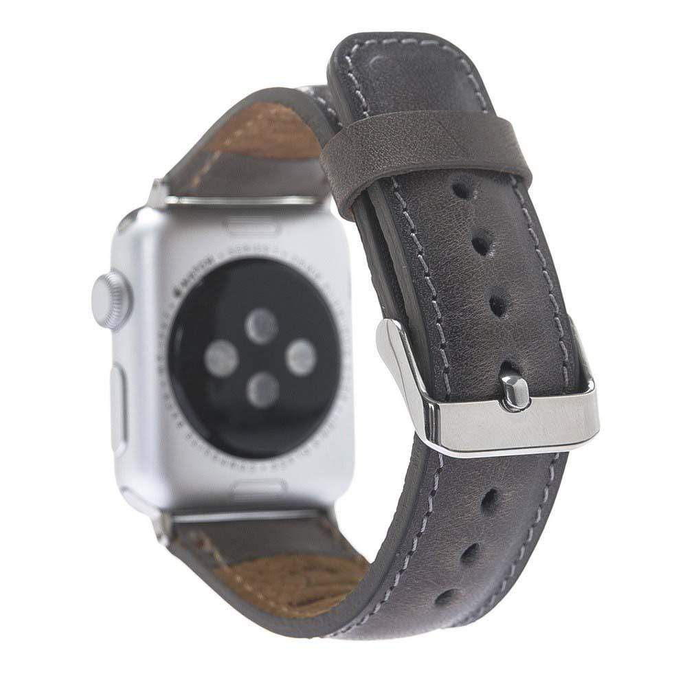 Watch Band Leather Watch Strap for Apple Watch 38mm / 40mm - Vegetal Grey Bouletta Shop