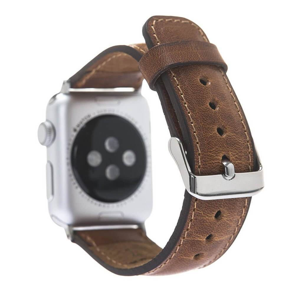 Watch Band Leather Watch Strap for Apple Watch 38mm / 40mm - Vegetal Tan Bouletta Shop