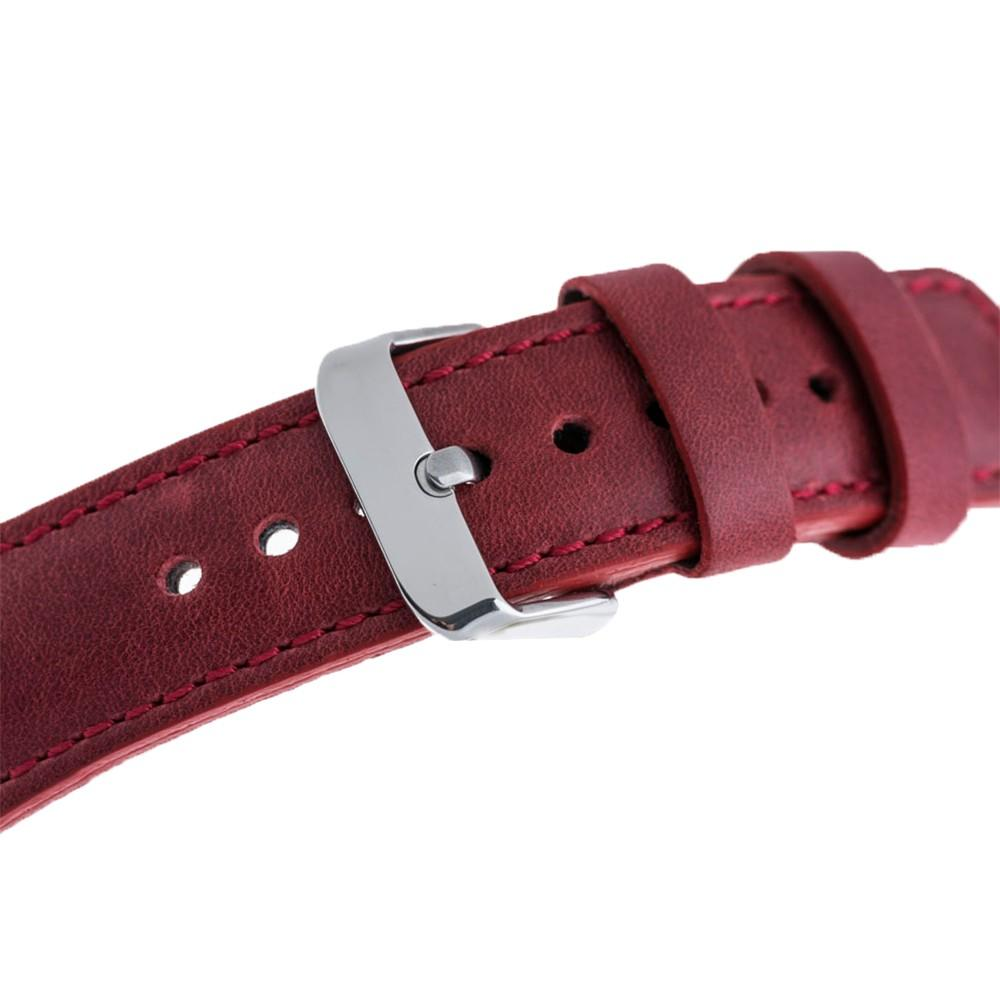 Watch Band Leather Watch Strap for Apple Watch 42mm / 44 mm -  Crazy Red Bouletta Shop