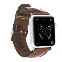Watch Band Leather Watch Strap for Apple Watch 42mm / 44 mm - Vegetal Tan Bouletta Case