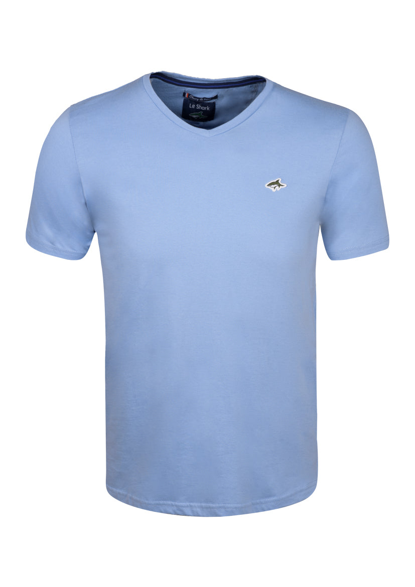 V NECK T SHIRT - JERSEY - BLUE