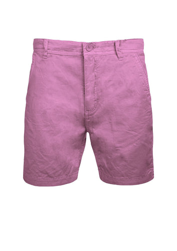 MENS CHINO SHORTS BRAVE SOUL COTTON TWILL PINK