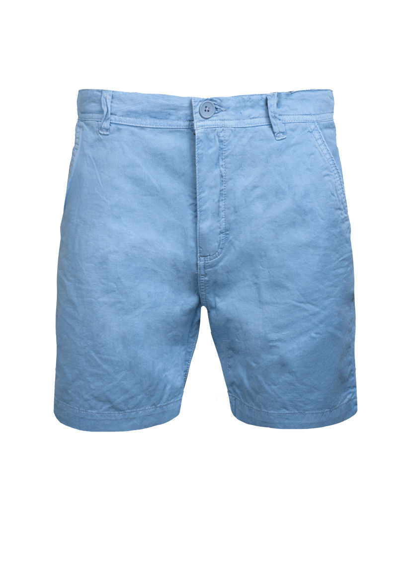MENS CHINO SHORTS BRAVE SOUL COTTON TWILL NAVY
