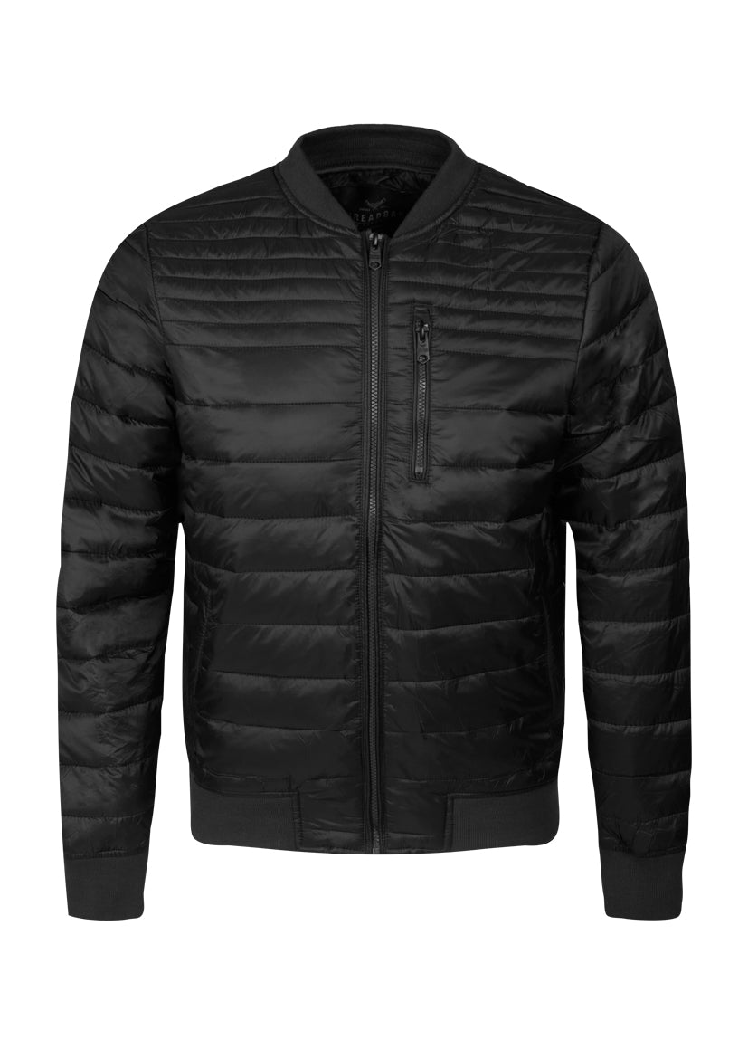 THREADBARE MENS NAPLES MA1 BOMBER JACKET BLACK