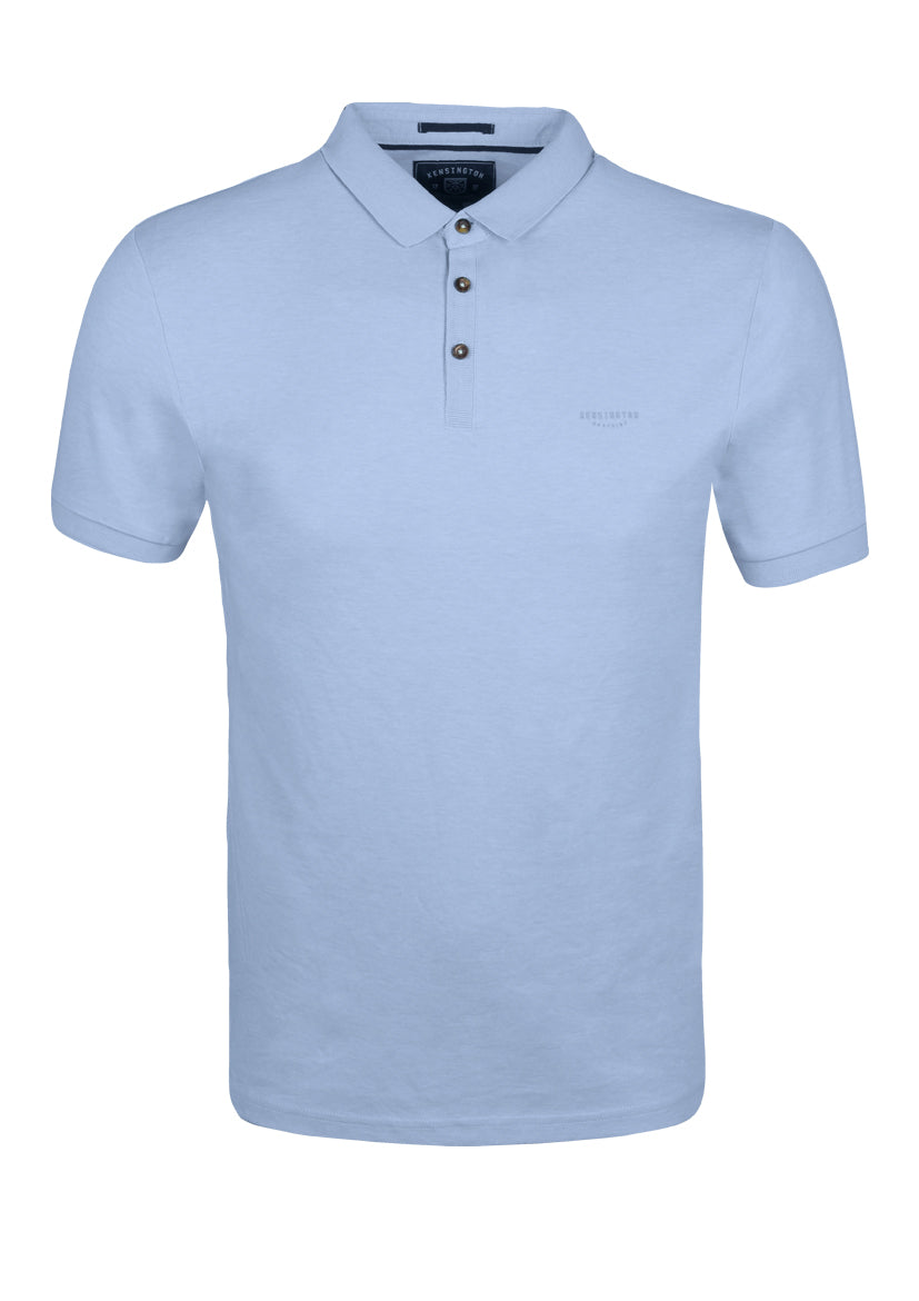 PLAIN POLO TOP - BLUE