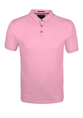 PLAIN POLO TOP - PINK