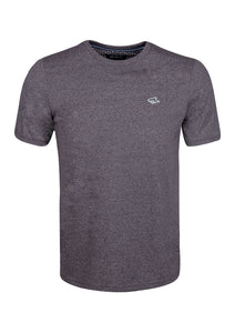 CREW NECK T SHIRT - JERSEY MARL - GREY