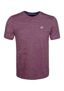CREW NECK T SHIRT - JERSEY MARL - RED